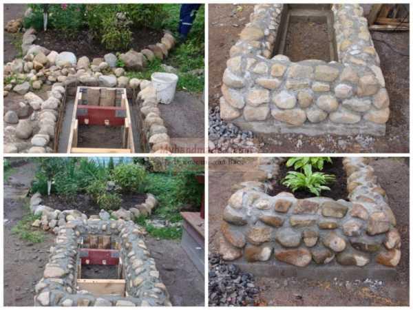 Цементный раствор для клумбы из камней фибра армирующая для бетона купить